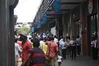 Achimota Retail Centre human traffic