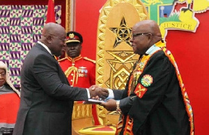 President Akufo-Addo and Speaker of Parliament Prof. Mike Oquaye