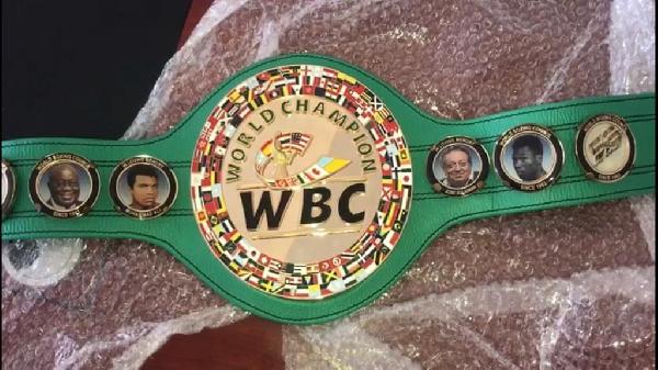 WBC presents new title belt to D.K Poison
