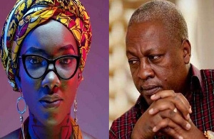 Former president Mahama and the late Ebony Reigns