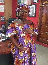 Gifty Anti is about seven months pregnant