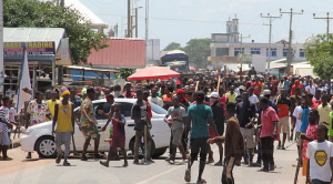 The youth of Ejura peacefully protesting