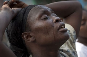 Woman Crying Sad African 123