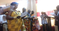 The swearing in of the Volta Regional Lands Commission