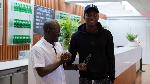 Maxwell Woledzi receives award for player that best represents FC Nordsjaelland's values