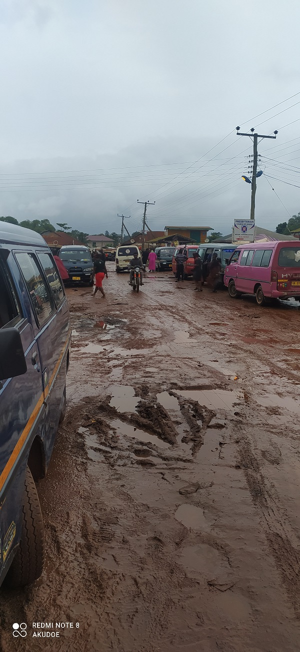 How a part of the market looks after a downpour