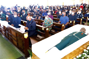 President Akufo-Addo and a host of dignitaries pay their last respects to the late professor