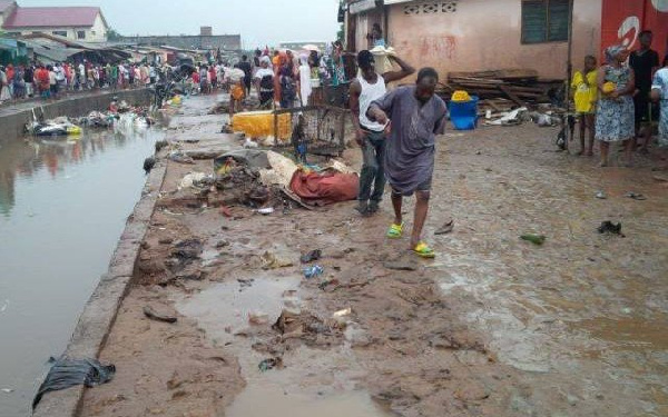 Flooded area in Accra