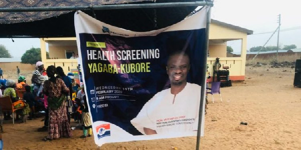 Mustapha Ussif organizes health screening for his constituency