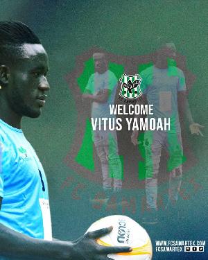 Ghanaian player, Vitus Yamoah