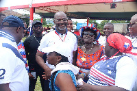 The vociferous lawmaker was spotted at the congress grounds in a polo shirt and shorts