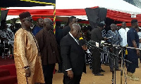 President Akufo-Addo speaking Friday at the funeral of P? Asagpaare I at Navrongo