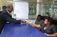 Papa Kwesi Nduom paying his tax