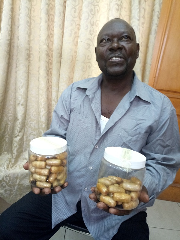 Bwogo Federick was arrested for trafficking narcotics to Ghana
