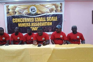 Members of the Ghana National Association of Small Miners