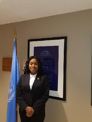 Abena Dugan, Vice-Chairperson for the Partnership and Resource of the Commonwealth Youth Council