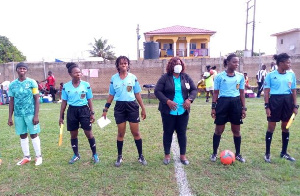 File photo of female match officials
