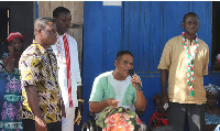 Ivor Greenstreet addressing voters on a campaign tour