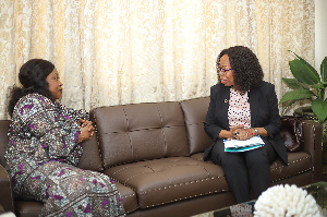 Shirley Ayorkor Botchwey in a chat with UNDP representative to Ghana