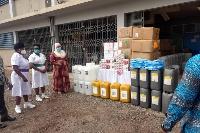 The items were received by Joseph Tambil on behalf of Effia-Nkwanta Regional Hospital