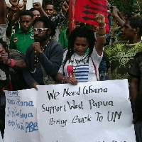 The people of West Papua in a Campaign