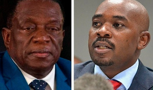 President Emmerson Mnangagwa and opposition leader, Nelson Chamisa