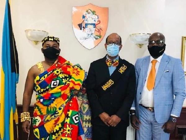 Nana Obekese Ampah pays courtesy call on Bahamas Ambassador