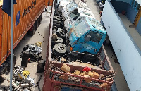 Seized truck spare parts