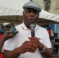 Napo addressing residents of Afia Kobi Electoral Area