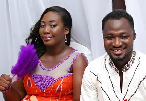 Funny Face with Elizabeth Nana Adjoa during their marriage ceremony