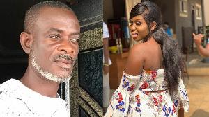 Movie producer Mr Jackson Bentum and his daughter Yaa Jackson