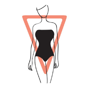 File photo: Inverted triangle, body type