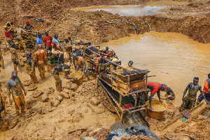 The writer says, we will loose everything and get nothing in return if we don't stop galamsey