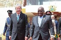 President Nana Addo Dankwa Akufo-Addo with Prime Minister, Paolo Gentiloni