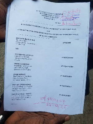 Adu Boahen secured a last minute injunction to stop polls from being held today