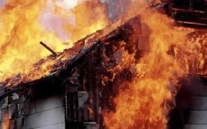 Fire Outbreak Burning House