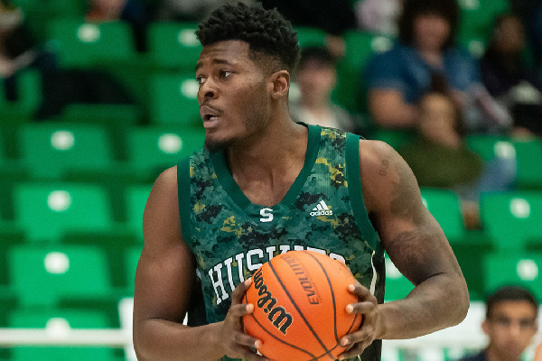 International student Maxwell Amoafo is a fourth-year Huskies forward and USask sociology student fr