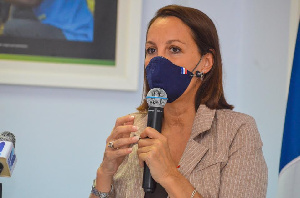Anne-Sophie Avé, the Ambassador of France to Ghana