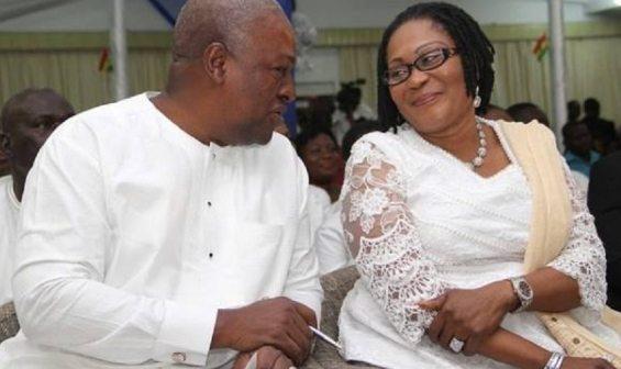 President John Dramani Mahama and his wife - Lordina Mahama