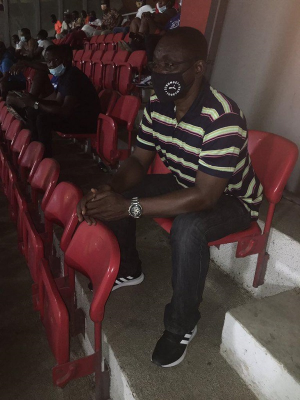 David Duncan watches two GPL games as Black Stars coaches monitor local players