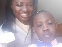 Elizabeth Solomon and her 5-year-old son, Emmanuel Akrong Junior