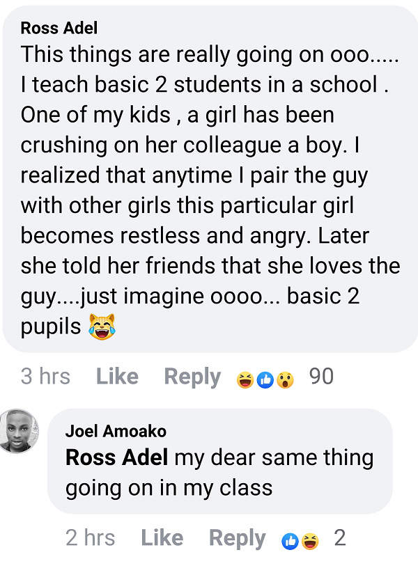 Teachers express shock over how kids in primary schools are proposing love to themselves 3
