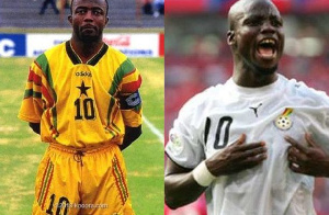Abedi Pele and Stephen Appiah