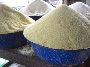 Gari is a multi purpose commodity that  is important to a student's survival at school