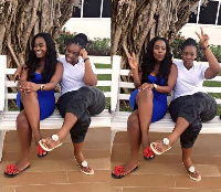 YOLO actress Serwaa Opoku Addo and sister