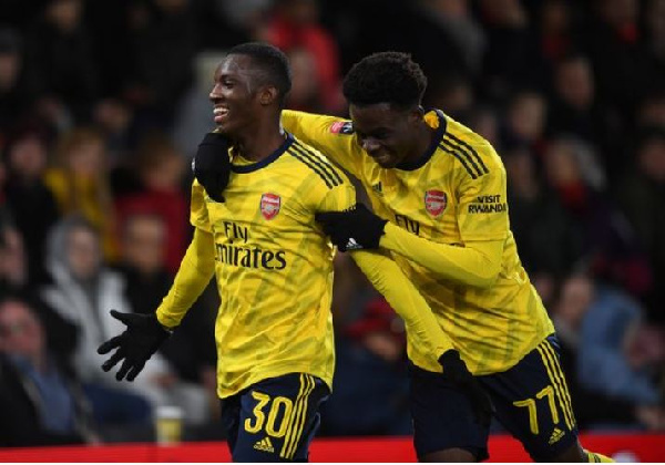 Edward Nketiah scores to send Arsenal into FA Cup fifth round