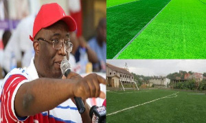 The MP is constructing three ultra-modern pitches in his constituency