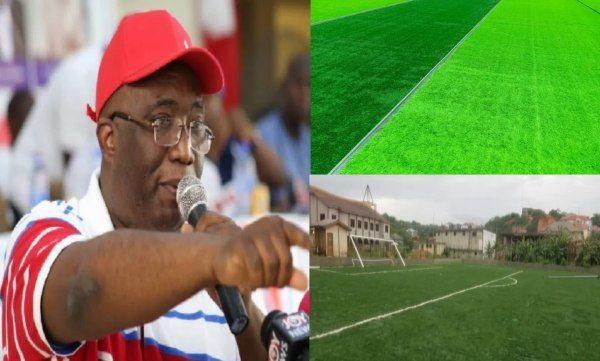 Joe Ghartey invests in key infrastructure of sports development in Essikado-Ketan