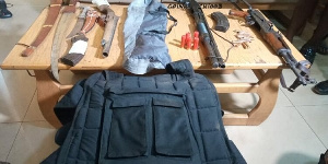 Weapons  retrieved from the suspects