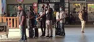 Avram Grant (right) arrived at KIA with an entourage that included Antonio Rudiger